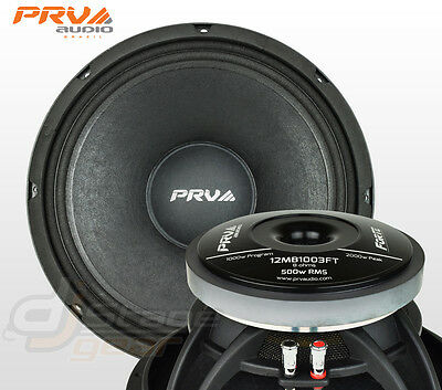 "PRV Audio 12MB1003FT 12"" High Output PA MidBass Speaker - 8 Ohms - 12 Mid 1000 W"