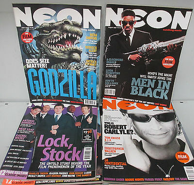Neon Mainline Movies magazine set x 10 issues, films, various 1997-1999 /BX983SS