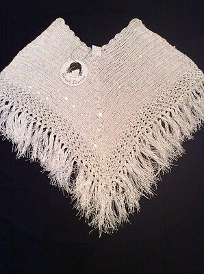 BNWT Girls Christening Poncho By Sarah Louise (Medium) **RRP £33**