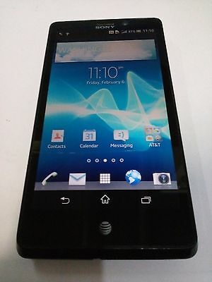 SONY XPERIA T (LT30at) 16GB - (AT&T) Black - CLEAN IMEI - MISSING