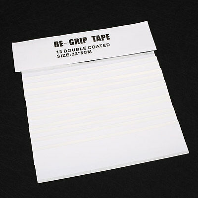 Professional 13Pcs Double Sided Club Tape Strips Adhesiveness For Golf Grip