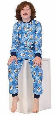 Manchester City Onesie 7 to 13 Years Man City Sleepsuit all in one Pyjamas Blue