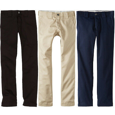 Dickies QP801 Boy's Flex Skinny Fit Straight Leg Uniform Twill Pants