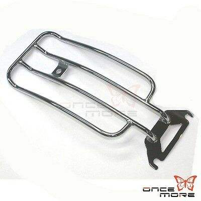 Motorcycle Rear Luggage Solo Seat  Rack  For Harley Electra Road Glide Chrome