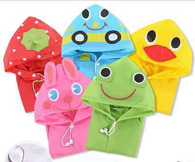 Kids Fun Rain coat Waterproof Hooded Poncho Jacket Raincoat Winter Duck Rabbit