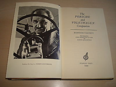 LA PORSCHE & VOLKSWAGEN COMPAGNO BY KENNETH ULLYETT - DATATO 1962 1st EDITION