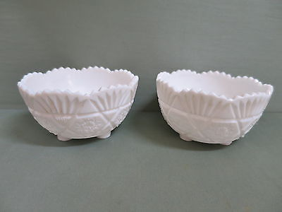 Victorian Milk Glass Bowl- Two Available