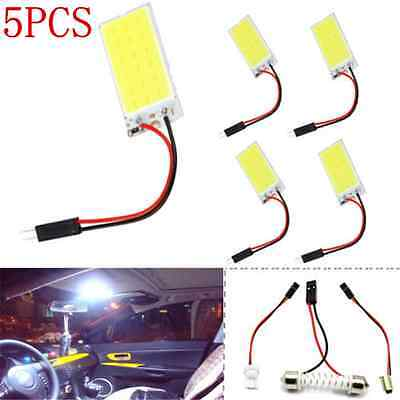 5X White 48 SMD COB LED T10 4W 12V Car Interior Panel Light Dome Lamp Bulb