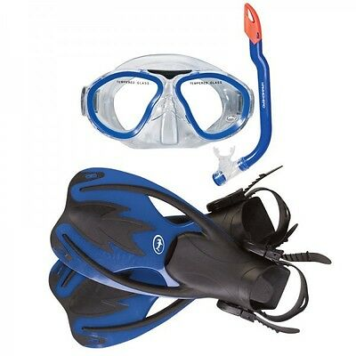 Hammerhead Kids Mask, Snorkel & Fin Set S/M- blue