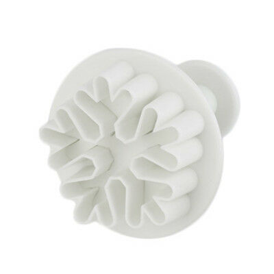 3pcs Snowflake Fondant Cake Decorating Sugar Cutter Plunger Mold Mould ZY