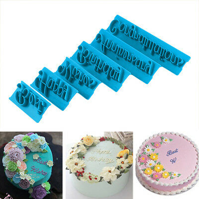 Handwrite Alphabet Letter Fondant Cake Cookie Biscuit Cutter Mold Mould ZY