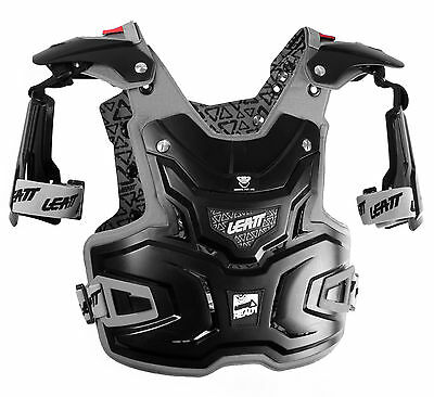 New Leatt Adventure Motocross Mx Offroad Chest Protector Adult Black Blk