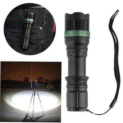 High Power 2200 Lumen Zoomable Focus XM-L T6 LED Flashlight Torch Lamp ZY