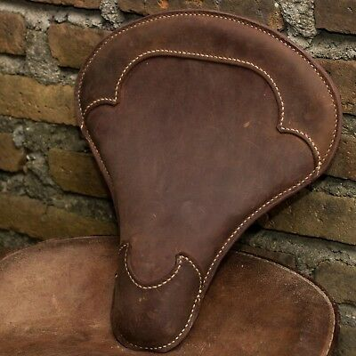 Motorcycle Seat Solo Genuine Leather Handmade Harley Davidson Chopper Bobber