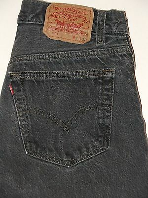 VTG 80s Levi's 501 Button Fly Jeans Black Made in USA Size 31x29 100% Cotton EUC