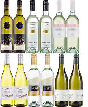 Best Buys White Wine Mix includes Chardonnay, Sav Blanc and Pinot Grigio x12 • AUD 129.00