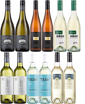 Famous Regional White Wines x12 featuring Chardonnay, Riesling and More • AUD 99.00