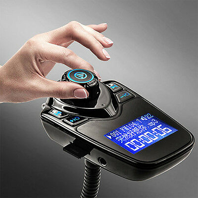 Car Kit Handsfree Wireless Bluetooth FM Transmitter MP3 Player USB Charger LCD