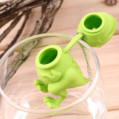 Dinosaur Tea Infuser Loose Leaf Strainer Herbal Silicone Filter Diffuser ZY
