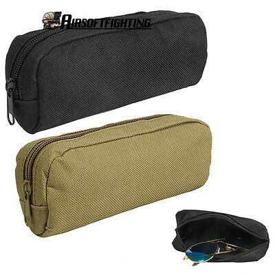 Tactical Molle Glasses Case Waist Bag Belt Accessory Pouch Camping Hunting