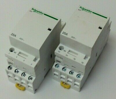 Schneider 25 Amp Contactor 4 Pole 4 N/o 230V Job Lot To Clear (S91)