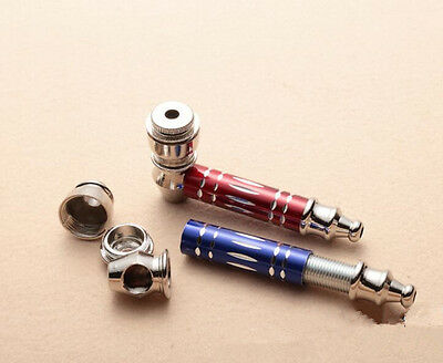 1Pc Smoke Gift Pipes Now Random Color Metal Pipe Tobacco Pipes Mill Creative