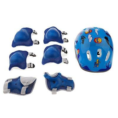 Kids Protective Gear Helmet Knee Elbow Wrist Pad Set for Inline Skating Cycling