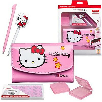 Nintendo 3DS XL Game Case Travel Pack Accessories Hello Kitty