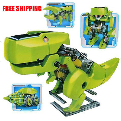 4 In 1 Educational Learning Electronic Power Dragon Solar Robot Kit Kids Toy DIY