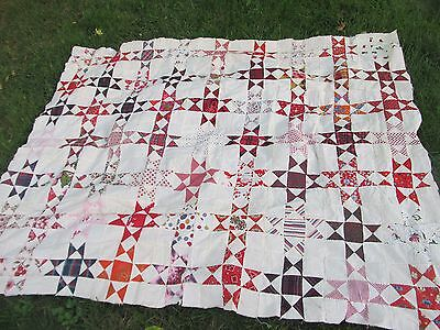Gorgeous Vintage New England Patchwork Quilt Top, Mass, Crafts, GIFT