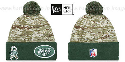20d61bf32a1 Jets  2015 SALUTE-TO-SERVICE  Knit Beanie Hats by ...