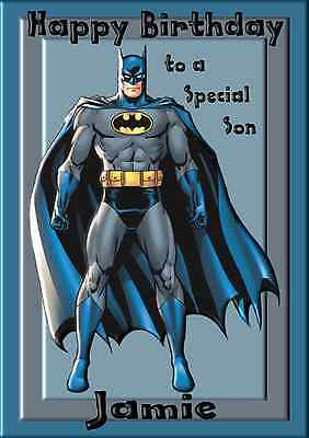 Relation Batman Birthday Card Greeting Card Personalised Age