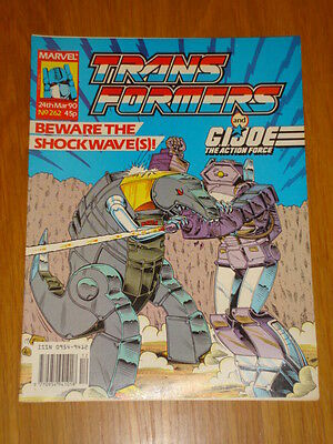 Transformers British Weekly #262 Marvel Uk Comic 1990