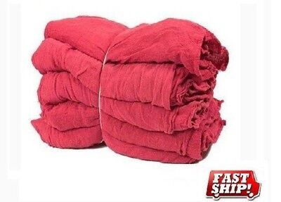1250 Mechanics Rag Shop Rags Towels Red Large 13X14 Gmt Brand Heavy Duty