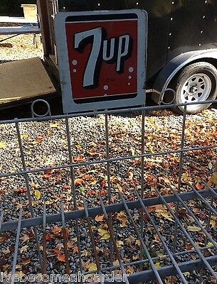 Vintage Antique 7 Up Soda Old Store Advertising Sign Display Rack
