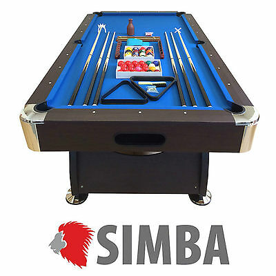 8 Ft Pool Table Billiard Playing Table Game billiards blue Cloth Indoor Sports