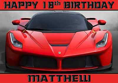 textured insert PERSONALISED FATHERS DAY or BIRTHDAY FERRARI SPORTS CAR Blank