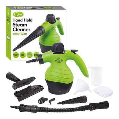 New Quest Handheld Steam Cleaner 250ml 1000W 3 Bar(Green)+Tools With Child Lock