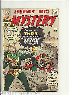 Journey Into Mystery 92 - Silver 1963 -  * Vg + *   Combine Shipping