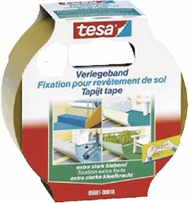 Tesa Carpet extra strong adhesive 5681/18, 50 mm x 5 m, Double-sided adhesive