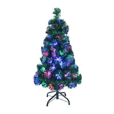 Christmas Workshop 90cm/3ft Fibre Optic Artificial Christmas Tree Green 100 Tips