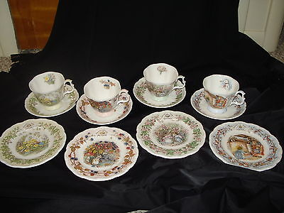 Royal Doulton 4 Seasons 12 Pc Tea Set Complete Brambly Hedge Cup Saucer Plate