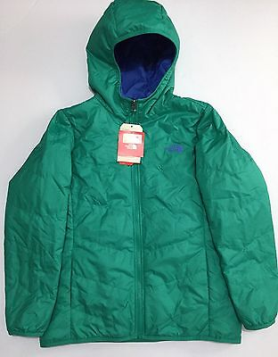 NEW The North Face Jaya Lizzie Green Reversible Puffer Jacket Coat Girls Large