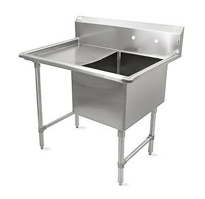 "John Boos B Series Stainless Steel Sink, 14"" Deep Bowl, 1 Compartment, 18"" Left"