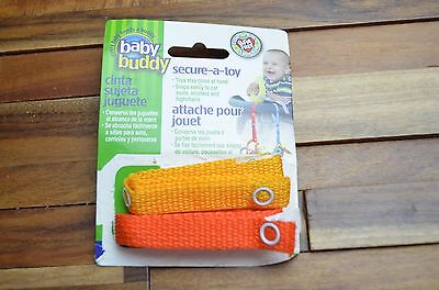 """Baby Buddy Secure a Toy 2 Pack """"New Open Package"""""""