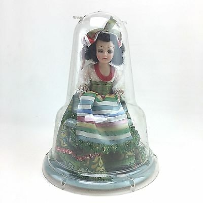 Vintage A & H Doll Plastic USA Fashion Dress Toy Dolls Bell Dome Case Girl