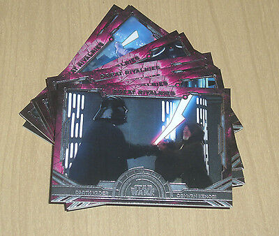 2016 Topps Star Wars Masterwork complete insert chase GREAT RIVALRIES 10card set