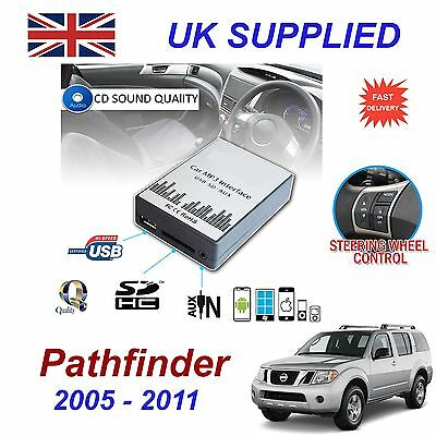 For Nissan PATHFINDER MP3 SD USB CD AUX Input Audio Adapter CD Change Module