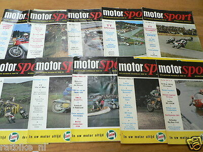 Motorsport Dutch Motorcyle Mag Complete Set 1966-1984 With Posters 206 Mags