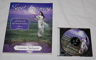 New Tarot Journeys Book w/ CD Yasmine Galenorn Divination Occult Meditation